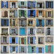 Stock Photo: Windows of the Provence