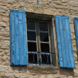 Window with wooden shutters — Stock Photo