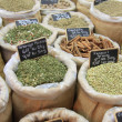 Herbs and spices on a french market — Stock Photo #11083368
