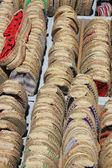 Espadrilles on a market in the Provence, France — Stock Photo
