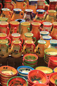 Traditional pottery on a market in the Provence — Stock Photo