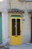 Yellow frontdoor — Stock Photo