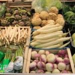 Vegetables on a market — Stock Photo
