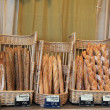 French bread in a shop — Foto Stock