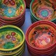 Traditional pottery on a market in the Provence - 图库照片