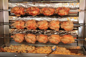 Roasted chicken on the grill — Stock Photo