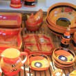 Traditional pottery on a market in the Provence — 图库照片