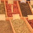 Stock Photo: Herbs and spices on a french market