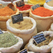 Herbs and spices on a french market — Stock Photo #11394383