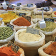 Herbs and spices on a french market — Stock Photo