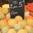 Melons on a market — Foto Stock