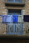 Laundry on a balcony — 图库照片