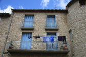 Laundry on a balcony — Stockfoto