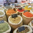 Herbs and spices on a french market — Stock fotografie
