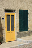 Yellow frontdoor — Stock Photo