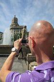 Man taking photo — Stock Photo