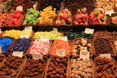 Candy at the market in Barcelona — Stock Photo