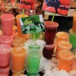 Fruit drinks at the market - Foto de Stock
