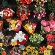 Colorful bouquets at a market — Stock Photo