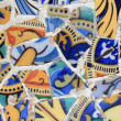 Detail of mosaic in Guell park in Barcelona — Stock Photo #11622852