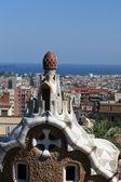 View from Park Güell, Barcelona — Stock Photo