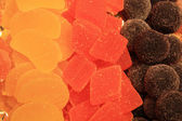 Candied fruit candy at the market — Stock Photo