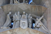 Sagrada familia barcelona, cephe detay — Stok fotoğraf