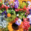 Mixed bouquet in bright colors — ストック写真