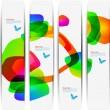 Stock Photo: Abstract colorful banner set designs