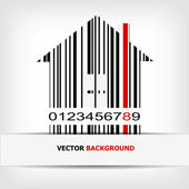 Barcode image with red strip — Stock Photo