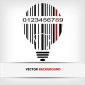 Barcodebeispielbild mit roten Streifen — Stockfoto