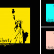 The vector retro Statue of Liberty background — Stock Photo
