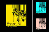 Abstract vector zebra silhouette mit barcode — Stockfoto