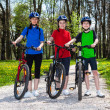 Family biking — Stock Photo