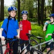Family biking — Stock Photo #10833041