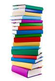 Pila di libri su sfondo bianco — Foto Stock