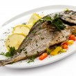 Fried fish and vegetables — Stock Photo #11603502