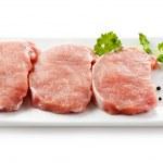 Fresh raw pork on white background — Stock Photo #11835048