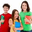 Royalty-Free Stock Photo: Kids holding books isolated on white background