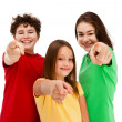 Royalty-Free Stock Photo: Kids pointing isolated on white background