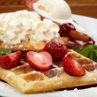 Waffles with strawberry — Stock Photo #12059568