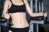 Exercises for a stomach — Stock Photo