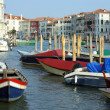 Venice, dock on the Grand Canal — Stock Photo #11650492