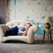 Adorable baby in the chair - Stockfoto