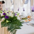 Foto de Stock  : Flowers - tables set for wedding