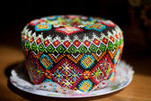 Easter cake kulich or panettone — Стоковое фото