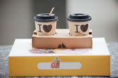 Paper coffee cup to go — Stock Photo