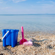 Toys on the beach — Stock Photo