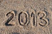 2013 na plaży — Zdjęcie stockowe