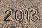 2013 on the beach — Foto Stock